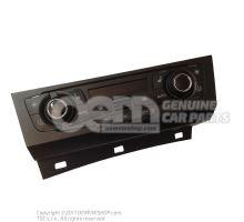 Unite de commande/d'affichage pour climatiseur climatronic chrome brillant/noir 8T1820043AKXZF