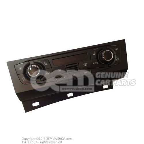 Control and display panel for air-conditioning system climatronic high chrome/black 8T1820043AKXZF