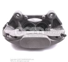 Caliper without brake pads left 8R0615107G
