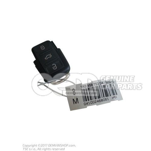 无线遥控中央门锁 带LED功能指示灯的 发送单元 (矩形按键区) 1J0959753DA