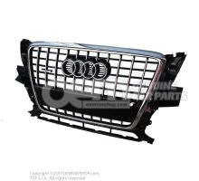 Radiator grille, complete black-glossy 8R0853651C T94