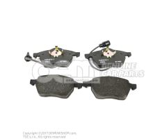 1 set: brake pads with wear indicator for disc brake 4A0698151C