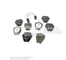 1 комплект тормозных колодок для дисковых тормозов 4B0698151S