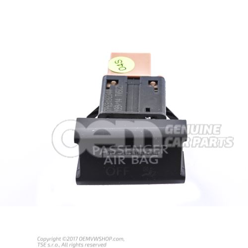 Control lamp for deact- ivation of front passenger airbag Volkswagen Touareg 7P 7P6919234A