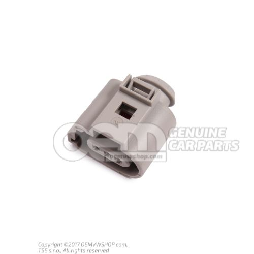 Flat contact housing with contact locking mechanism