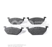 1 set of brake pads for disk brake 6Q0698151