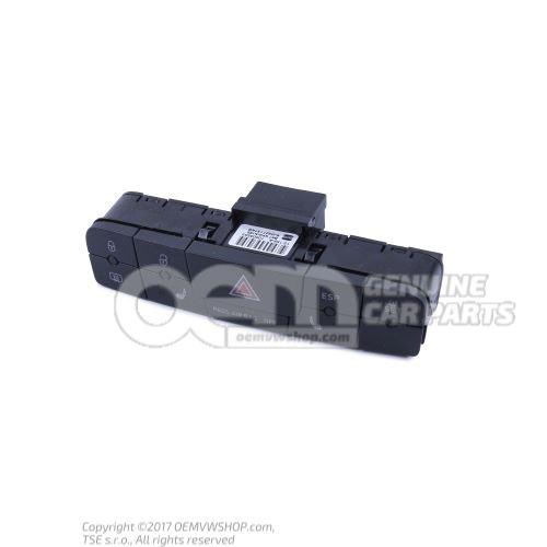 Viacnásobný spínač pre výstražné svetlo a elektr. stabilizačný program -ESP- karbónová čierna