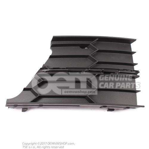 Накладка на бампер чёрный satinschwarz 3T0853666B 9B9
