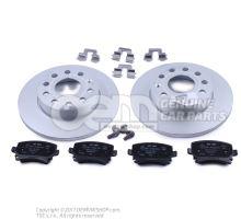 1 set brake discs with      'ECO' brake pads JZW698601AB