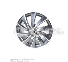 铝合金轮辋 煤黑色金属漆(灰色) 5E0071498J HA7