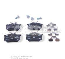 1 комплект тормозных колодок для дисковых тормозов 1J0698451P
