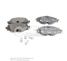 1 serie de plaquettes de frein p. frein a disque Volkswagen Caddy 2K 2K5698151B