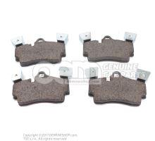 1 set of brake pads for disk brake Audi Q7 4L 7L5698451