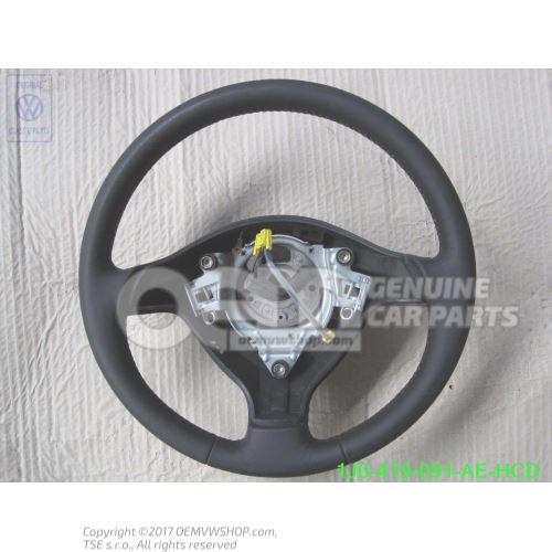 Sports steering wheel(leather) black/cosmic green 1J0419091AEHCD