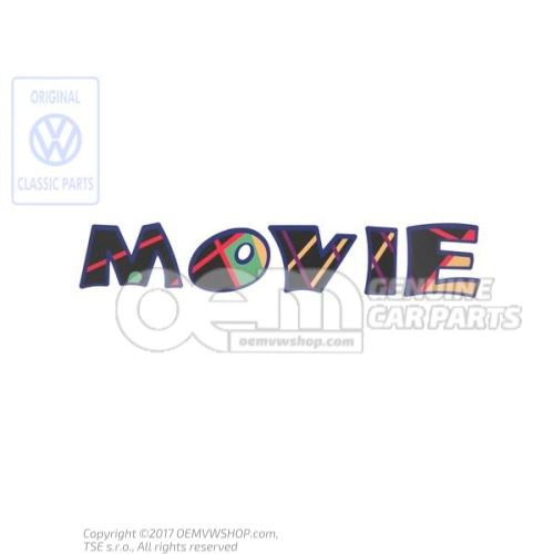 Film lettering black/multicolor 1H6853431M Z47