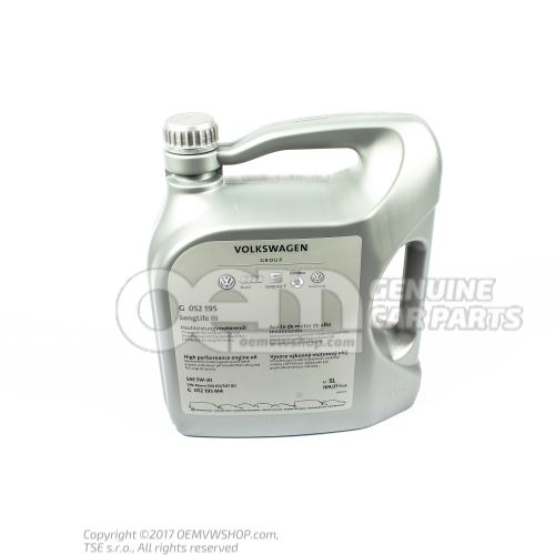 Моторное масло 'LongLife' G  052195M4