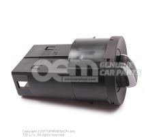 Combi-switch for day driving light, side lights and headlights and fog lights black 6R0941531G APV