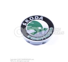Enjoliveur de roue noir/chrome brillant 6U0601151L MHB