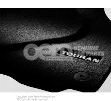 1 set footmats (textile) black Volkswagen Touran 1T1061270  WGK