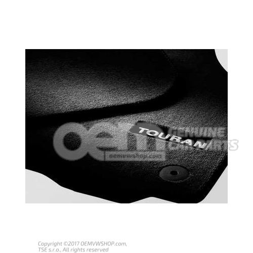 1 jeu tapis sol (textile) noir Volkswagen Touran 1T3 1T1061270 WGK