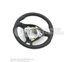 Športový volant (koža) volant čierna/kryštálová sivá