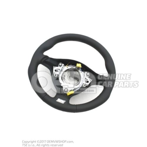 Sports steering wheel(leather) steering wheel black/crystal grey 1J0419091DLQHS