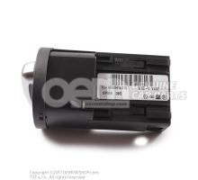 Combi-switch for automa- tic driving lights, side and driving lights, fog lights, rear fog light black/chrome 6R0941531G APV