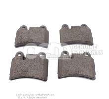 1 set of brake pads for disk brake 7L6698451B