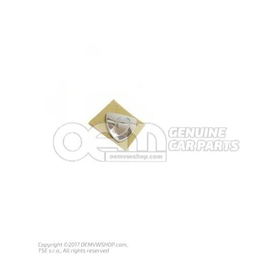 Plaquette (autocollante) chrome 1K0853688 739