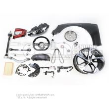 Belt latch satin black/fire red Seat Altea 5P 5P0857756 QVZ