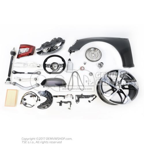 Boitier de verrouillage avec contact d'avertissement gris flanelle/rouge feu Volkswagen Beetle 1C 1Y2858472A FCP