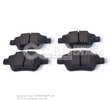 1 set of brake pads for disk brake rear 5K0698451C