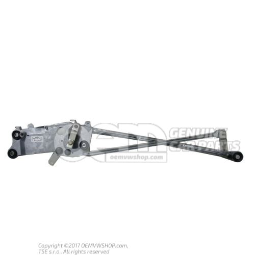 Windscreen wiper bracket with operating rod and crank arm lhd 7L0955601C