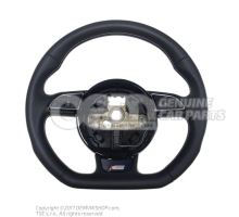 Multifunct. sports strng wheel (leather) mult.steering wheel (leather) steering wheel soul (black)/titanium 8K0419091CGIWQ