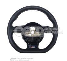 Volant sport multifonctions (cuir) volant direct.multif. (cuir) cablage p. sac gonflable volant de direction soul (noir)/titane 8K0419091CGIWQ