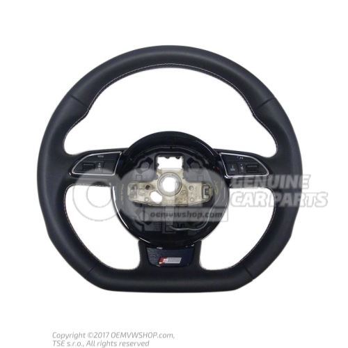 Multifunct. sports strng wheel (leather) soul (black)/titanium Audi A4/S4/Avant/Quattro 8K 8K0419091CGIWQ