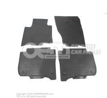 1 jeu tapis sol (caoutchouc) noir Volkswagen Touareg 7P 7P1061500 041