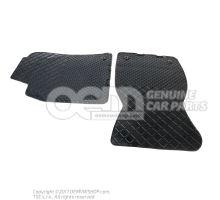 1 sada podložiek pod nohy (gumová) čierna