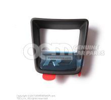 Trim for steering wheel satin black/high chrome 3QF419685 YMS