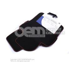 1 set foot mats black/red 1K1061271PBRYJ