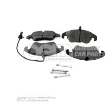 1 set: brake pads with wear indicator for disc brake 8K0698151J