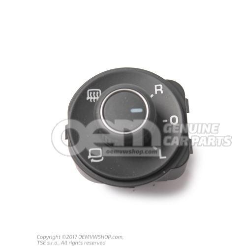 开关,用于 可加热、可折叠 电动可调节、 可加热式车外后视镜 开关 黑色/白色 1KA959565E REH