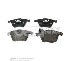 1 set: brake pads with wear indicator for disc brake 1K0698151B