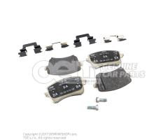 1 set of brake pads for disk brake 8K0698451G