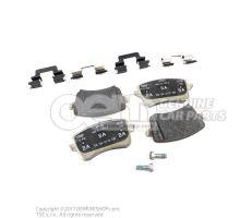 1 комплект тормозных колодок для дисковых тормозов 8K0698451G