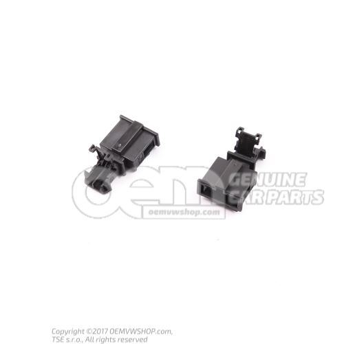 Flat connector housing with contact locking mechanism 3B0972712