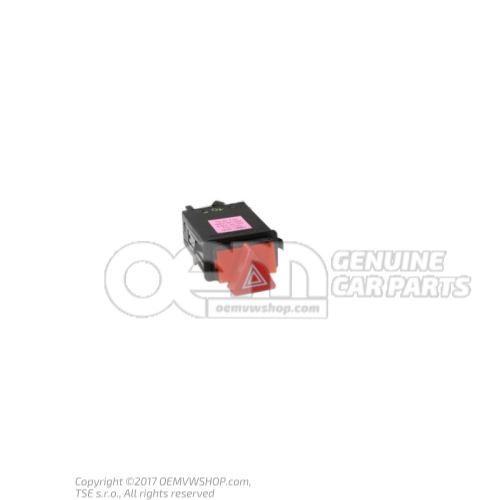 Hazard warning light switch relay turn signal/emerg.light satin black 4B0941509K B98