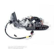 外后视镜支座,带 电动调整装置 棉缎黑色 8K1857410AJ01C