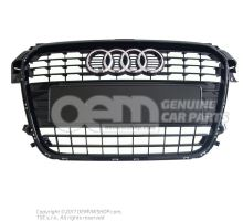 Grille de calandre noir-brillant Audi A1/S1 8X 8X0853651 ALZ