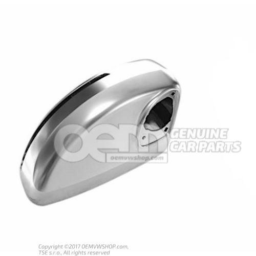 Exterior mirror housing aluminium right outer 8J0857502B 3Q7